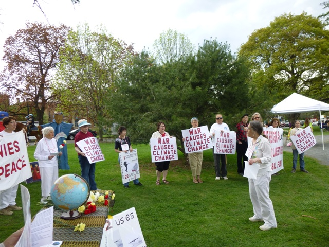 "Closing circle for the vigil, singing 'The Earth is our Mother"", photo by Marcia Hopple"