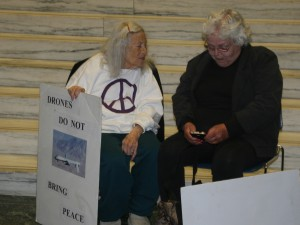 Elders Reszin Adams and Cynthia Pooler, photo by Mabel Leon
