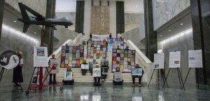view of the Tableau before the Media Conference at Noon on October 20th at the LOB, photo by Connie Houde