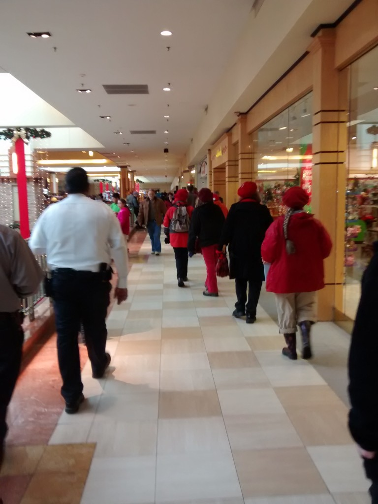 Strolling through the mall, photo by Mark Klein