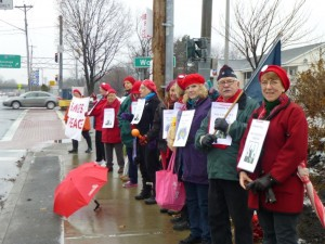 Central Avenue vigil on December 6, 2014, photo by Marcia Hopple