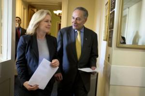 Senators Kirsten Gillibrand and Chuck Schumer