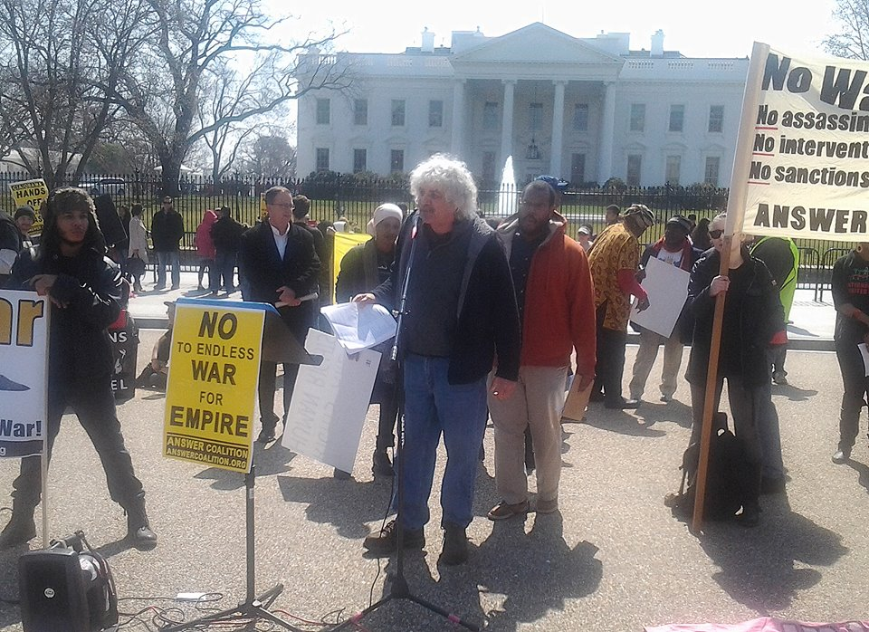 Joe Lombardo speaking at the Washington DC demonstration, March 21st