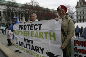 Protect Mother Earth from Military Climate Change, photo by Mabel Leon