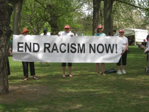 End Racism Now, photo by Dinah Farrington.