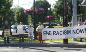 End Racism Now, Delaware Avenue, photo by Mabel Leon