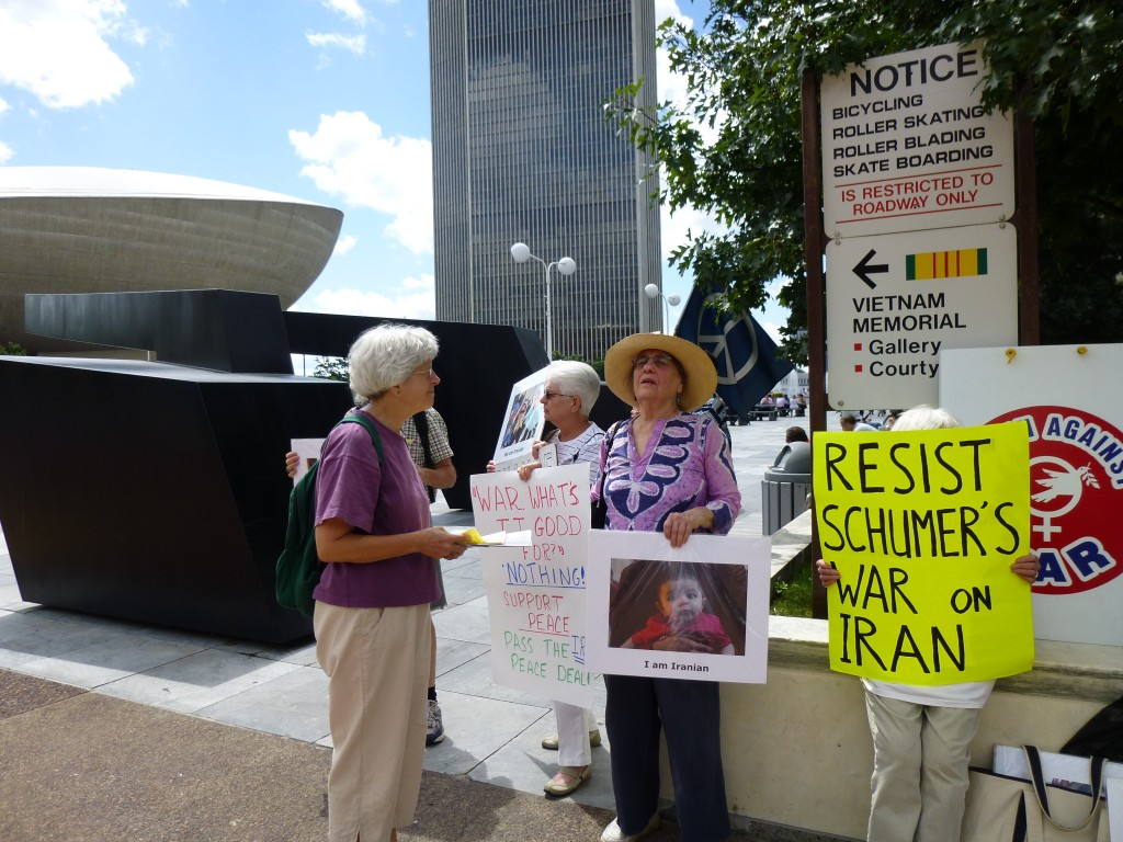 Early in the vigil on August 12, 2015.  Photo by Marcia Hopple