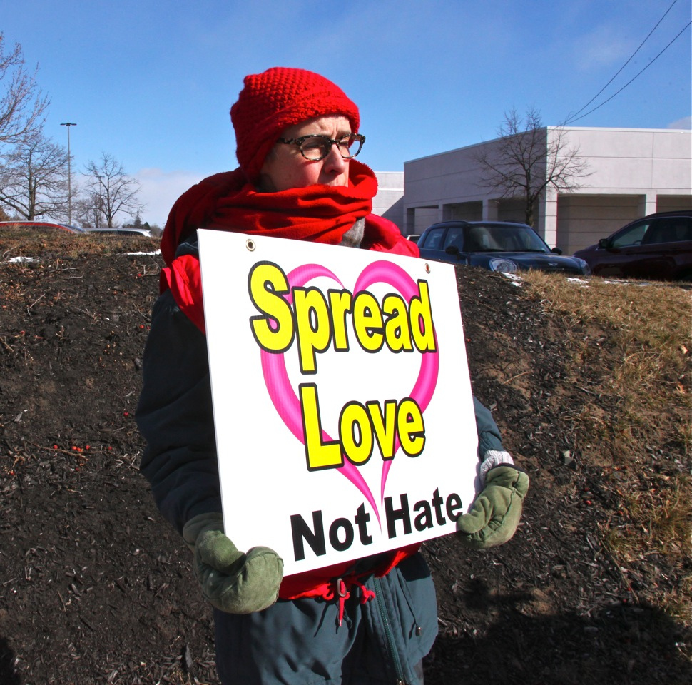 Spread Love Not Hate, photo by Jeanne Finley