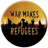 Syracuse Cultural Workers design for button based on WAW wording, submitted by Anita Stanley