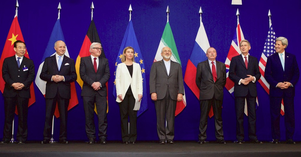 Negotiators of the Iran nuclear deal from China, France, Germany, The European Union, Iran, Russia, the United Kingdom and the United States, April 2, 2015